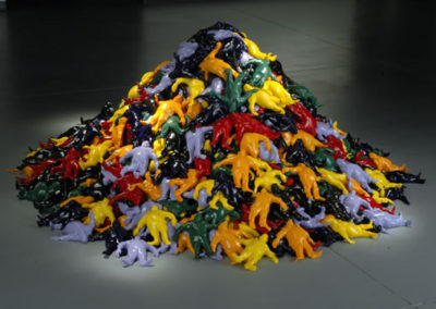 Rubber pile